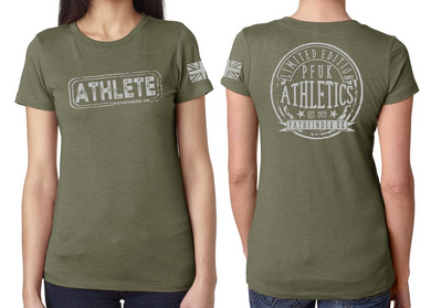 ATHLETE Ladies T-Shirt - Military Green