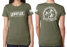 Load image into Gallery viewer, #PFUK Ladies T-Shirt - Military Green