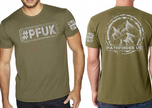 Load image into Gallery viewer, #PFUK Men's T-Shirt - Military Green