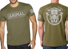 Load image into Gallery viewer, ANIMAL (Bull) Mens T-Shirt - Military Green
