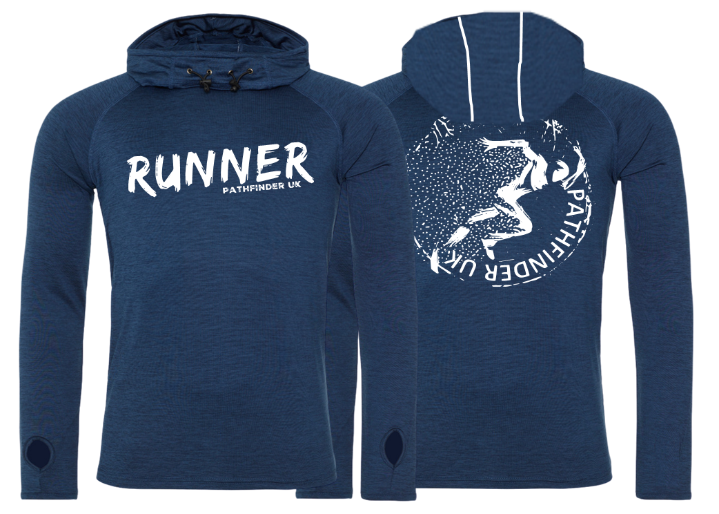 RUNNER Men's Cowl Neck Top - Navy Melange