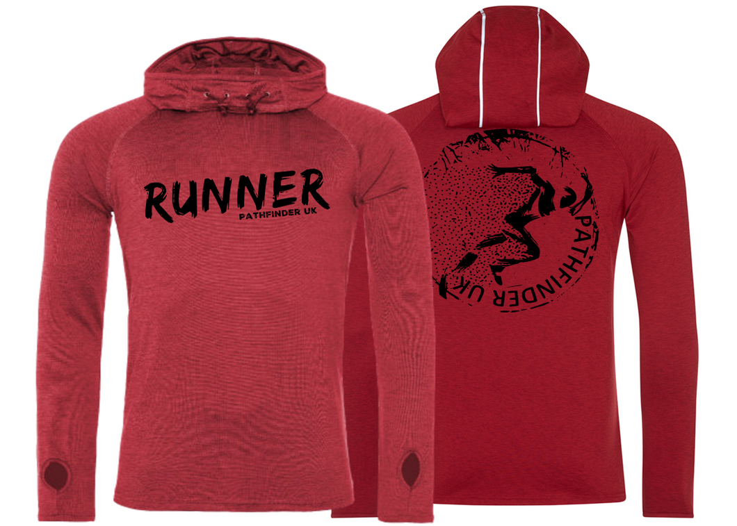 RUNNER Men's Cowl Neck Top - Red Melange
