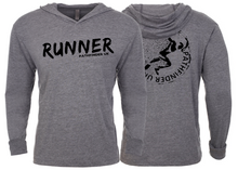 Load image into Gallery viewer, RUNNER Unisex T-Shirt Hoodie - Heather Grey