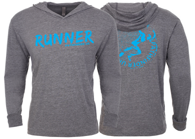 RUNNER Unisex T-Shirt Hoodie - Heather Grey