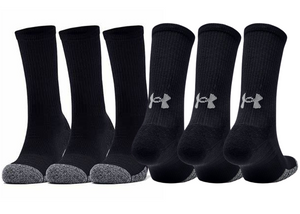 UNDER ARMOUR HeatGear® Crew Socks - Pk 3