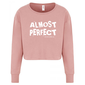 ALMOST PERFECT - Ladies Cropped Sweatshirt - Size Medium