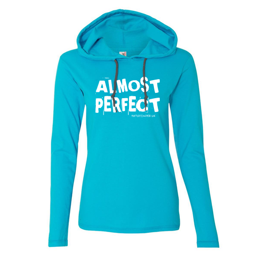 ALMOST PERFECT - Unisex T-Shirt Hoodie - Size Medium