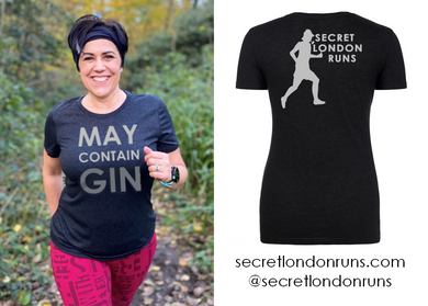 SECRET LONDON RUNS - 'May Contain Gin' T-Shirt (Order via SLR website)