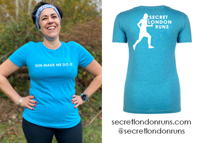 SECRET LONDON RUNS - 'Gin Made Me Do It' T-Shirt (Order via SLR website)