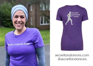 SECRET LONDON RUNS - Vintage Purple T-Shirt (Order via SLR website)
