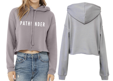 REST DAYS Ladies Cropped Hoodie - Storm