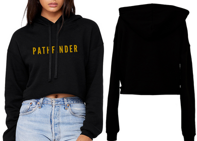 REST DAYS Ladies Cropped Hoodie - Black