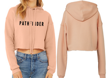 Load image into Gallery viewer, REST DAYS Ladies Cropped Hoodie - Peach