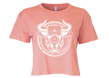 Load image into Gallery viewer, ANIMAL (Bull) Ladies Cropped T-Shirt - Desert Pink