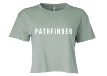 Load image into Gallery viewer, REST DAYS Ladies Cropped T-Shirt - Stonewash Green