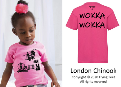 FLYING TEEZ - Baby Chinook London T-Shirt