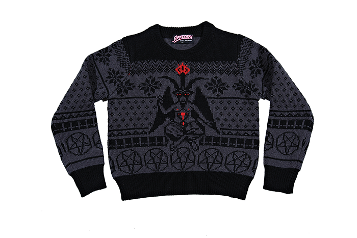 Satanic Christmas Sweater.Satanic Knit Baphomet Sweater Shredder Satan Jumper