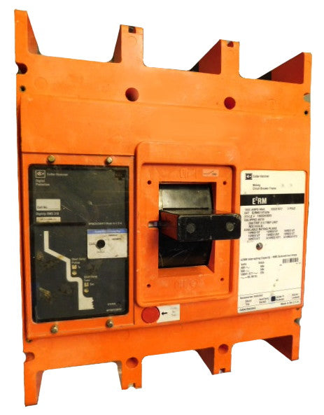 E2RM316T32WA12S29 E2RM Frame Style, Molded Case Mining Circuit Breaker, Non-Interchangeable Electronic Trip Unit, LSI Trip Unit Functions, 1600 Ampere Max at 40 Degree Celsius, 3 Pole, 1000VAC @ 50/60HZ, 25 Kiloampere @ 1000 VAC, Without Terminals Standard, A12 Option Includes: [2-A (Open) 2-B (Closed) Auxiliary Switch Installed, Right Pole Mounted, Exiting Right], S29 Option Includes: [110-240 VAC Shunt Trip Installed, Right Pole Mounted, Exiting Right]. 1 Year Warranty.