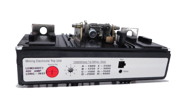 LEM3400T Trip Unit, L Frame Style, Electronic Trip Unit, Long/Instantaneous, 400 Ampere at 40 Degree Celsius, 3 Pole, 500-2500 Amp Trip Rating, For Use in Molded Case Circuit Breakers With Optional Interchangeable Trip Units. 1 Year Warranty.