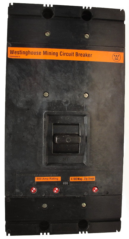 MAM3600 1500-3000 MAG-ONLY M Frame Style, Molded Case Mining Circuit Breaker, Interchangeable Magnetic Only Trip Unit, 600 Ampere at 40 Degree Celsius, 3 Pole, 600VAC @ 50/60HZ, Interrupting Ratings: 42 Kiloampere @ 240VAC, 30 Kiloampere @ 480VAC, 22 Kiloampere @ 600VAC, No Lugs Standard. 1 Year Warranty.