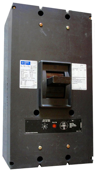 PC32000 PC Frame Style, Molded-Case Circuit Breaker, Seltronic Solid State Electronic Trip Unit, 2000 Ampere at 40 Degree Celsius, 3 Pole, 600VAC @ 50/60HZ, Rear Connected, Complete Breaker with Rating Plug Installed. New Surplus and Certified Reconditioned with 1 Year Warranty.