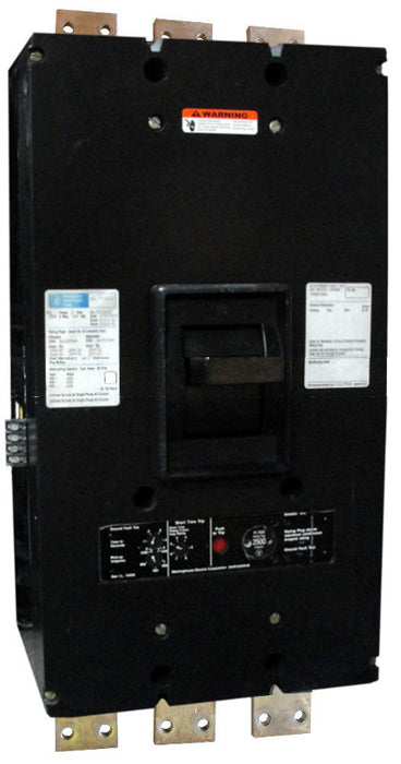 PCFG31000 PC Frame Style, Ground Fault Molded-Case Circuit Breaker, SELTRONIC Solid State Electronic Trip Unit, 1000 Ampere at 40 Degree Celsius, 3 Pole, 600VAC @ 50/60HZ, Front Connected, Frame Rated at 2000 Ampere. New Surplus and Certified Reconditioned with 1 Year Warranty.