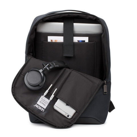 "LEXON | TRACK LAPTOP BACKPACK SIMPLE 14"" with Power Bank Connector"