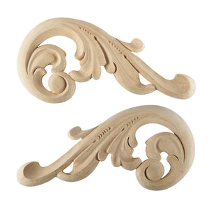 Acanthus Scroll Applique Pair