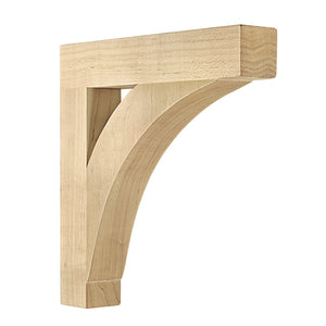 "Farmhouse Arch Wood Bracket (9""h x 9""d)"