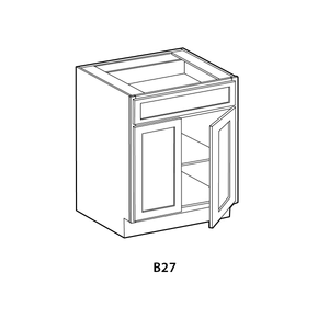 "Ready-to-Assemble Shaker Base Cabinet (27""w x 34.5""h x 24""d)"