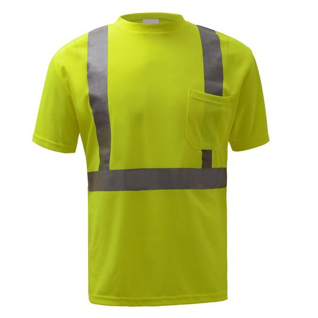 GSS Standard Class 2 Moisture Wicking Short Sleeve Safety T-Shirt With Chest Pocket