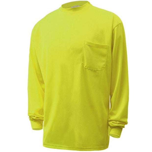 GSS Moisture Wicking Long Sleeve Safety T-Shirt With Chest Pocket