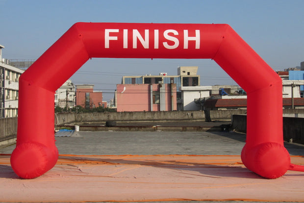 "Small Inflatable Red ""Finish"" Arch - 6m x 3.5m"