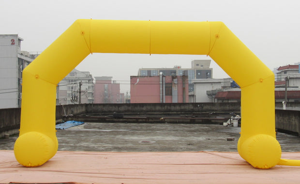Small Inflatable Arch with Legs - 6m x 3.5m - YELLOW