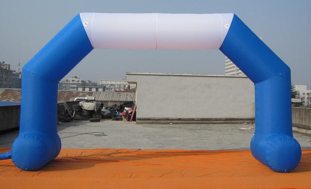 Small Inflatable Arch with Legs - 6m x 3.5m - BLUE & WHITE