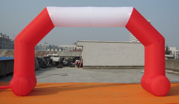 Small Inflatable Arch with Legs - 6m x 3.5m - RED & WHITE