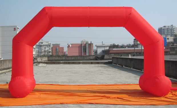 Small Inflatable Arch with Legs - 6m x 3.5m - RED
