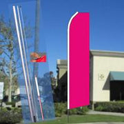 Solid Flutter-Style Feather Flag Bundle 14' OR Replacement Flag Only 11.5'