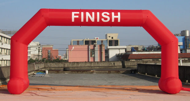 "Large Inflatable Red ""Finish"" Arch - 8m x 4m"