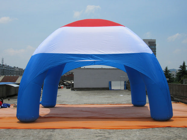 Medium RED-WHITE-BLUE Inflatable Tent - 8m x 4m
