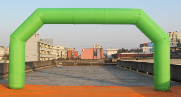 Large Inflatable Green Arch - 8m x 4m