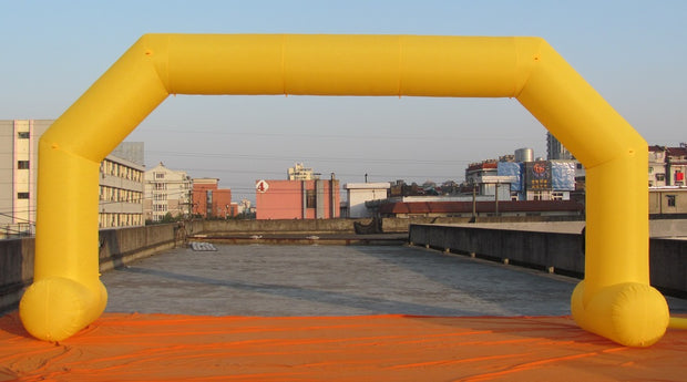 Large Inflatable Arch with Legs - 8m x 4m - YELLOW