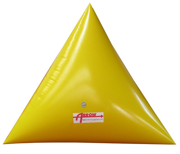 Premium 9' Triangle Swim Marker Buoy - YELLOW