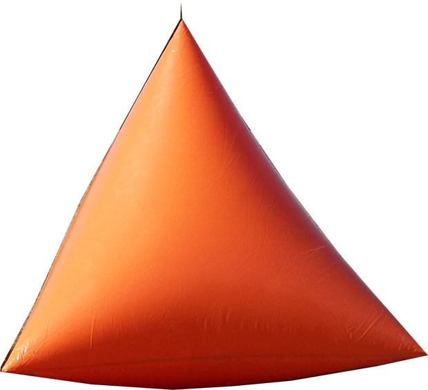 Premium 9' Triangle Swim Marker Buoy - ORANGE