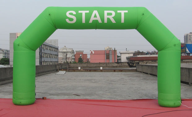 "Small Inflatable Green ""Start"" Arch - 6m x 3.5m"