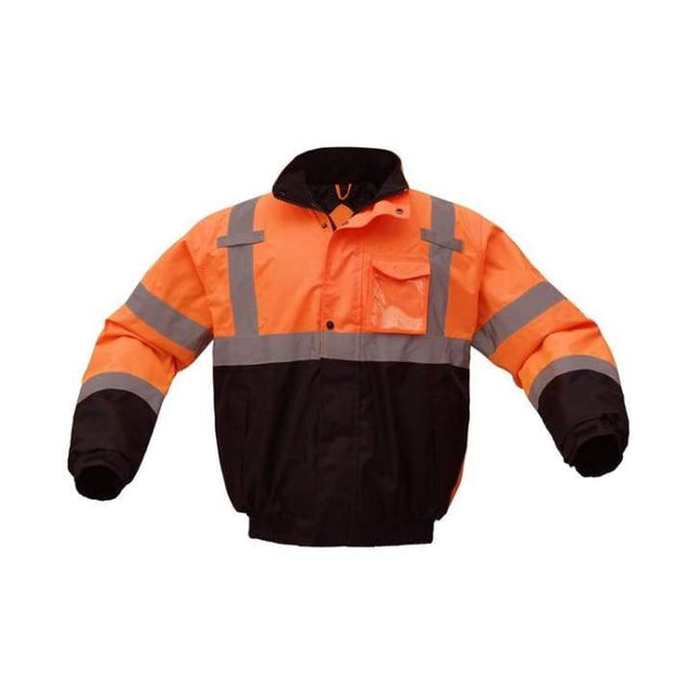 Gss Class 3 Waterproof Quilt-Lined Bomber Jacket - Orange / Regular / Small - Highway Safety