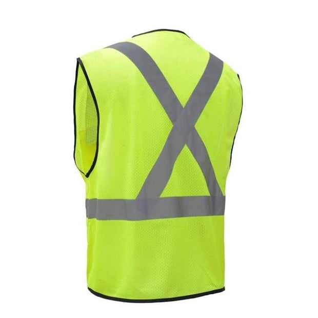 Gss Premium Class 2 Utility Safety Vest W/ X Back - Highway Safety