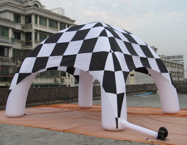 Medium CHECKERED Inflatable Tent - 26' x 13'