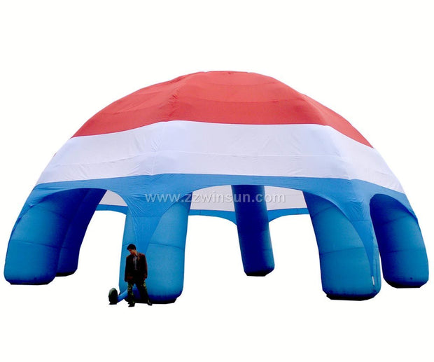 Large RED-WHITE-BLUE Inflatable Tent - 12m x 6m