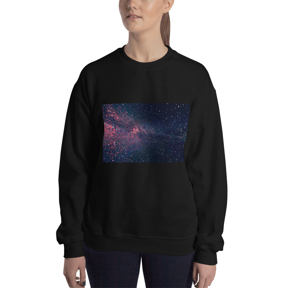Black Galaxy Women Sweatshirt